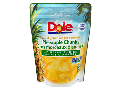 Dole Resealable Fruit Pouches - Tropical Gold Pineapple