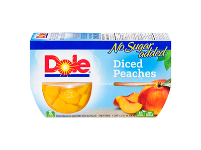 Dole Diced Peaches in Water