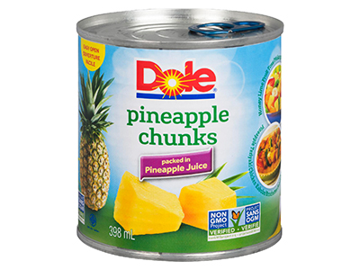 Dole Pineapple Chunks Cans
