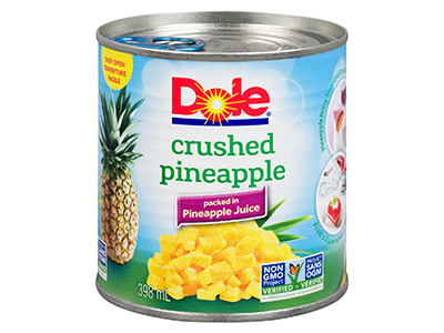 Dole Crushed Pineapple Cans