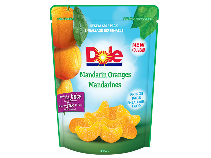 Dole Resealable Fruit Pouches - Mandarin Oranges